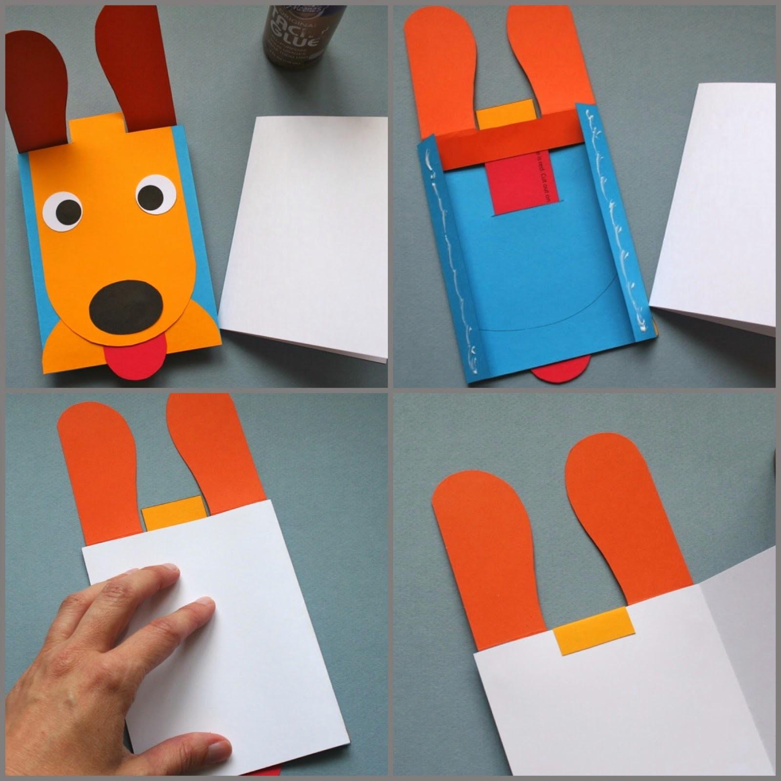 Открытка собачка из бумаги пошагово, рождеством немецком
